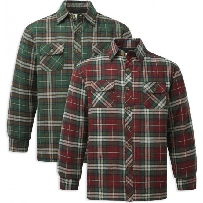 Fortress Neath Padded Quilt Lined Lumber Shirt