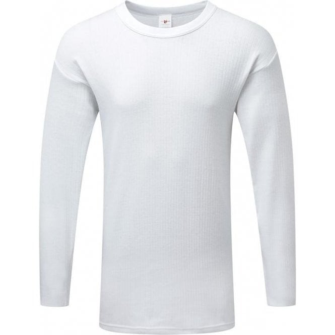 Fortress White Thermal Long Sleeve Vest