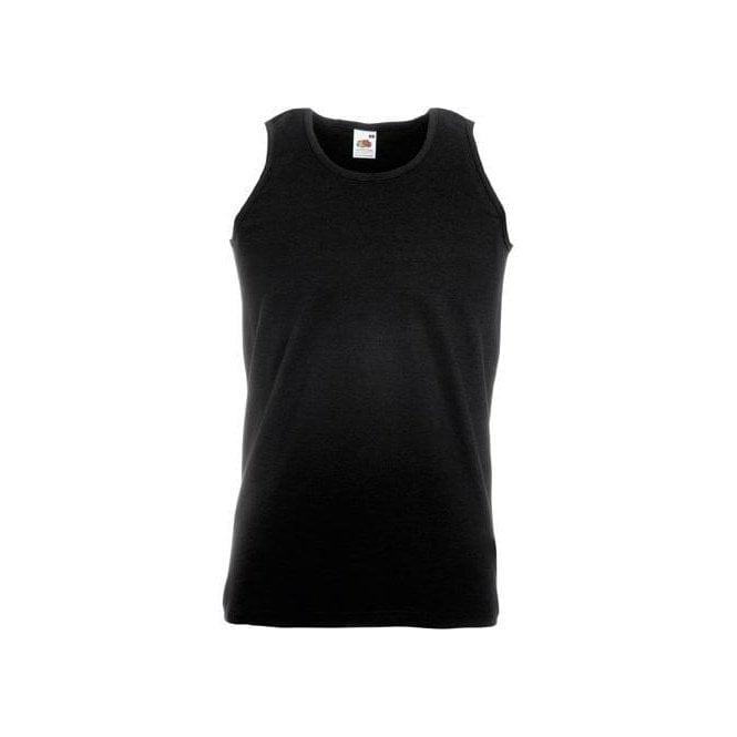 Fruit of the Loom Black Athletic Vest/Singlet