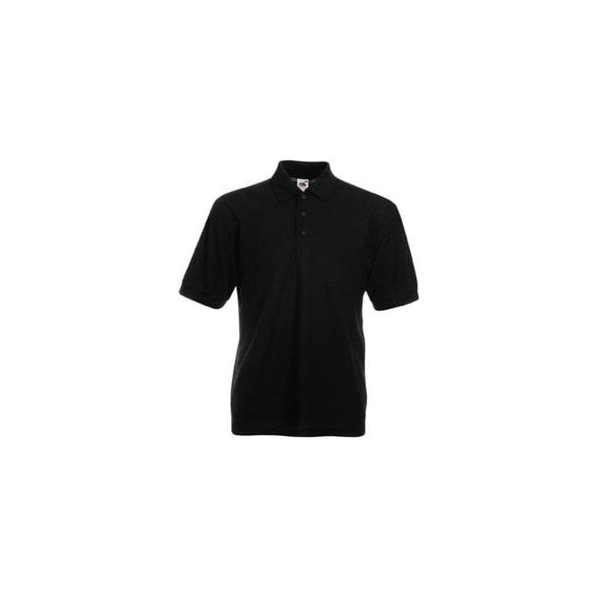 Fruit of the Loom Black Standard 65/35 Polo Shirt
