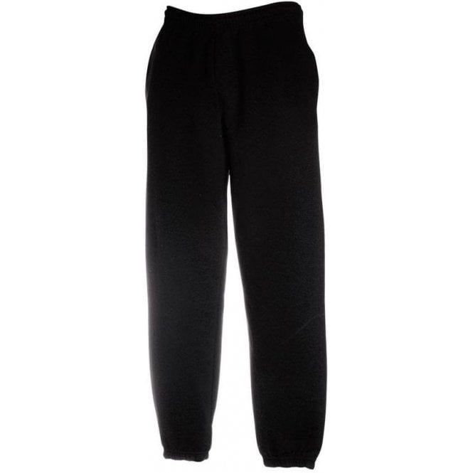 Fruit of the Loom Elasticated Sweat Pants/Joggers Black