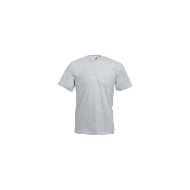 Fruit of the Loom Mens Heather Grey Valueweight Crew Neck, Short Sleeve T-Shirt