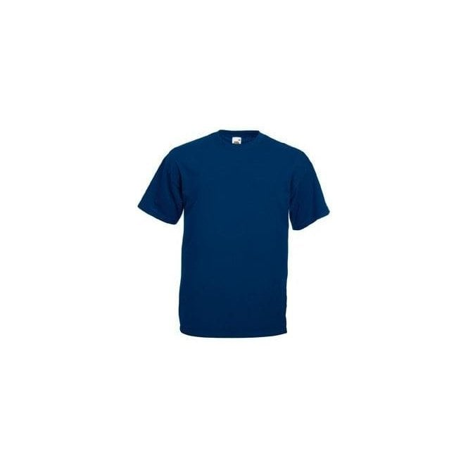 Fruit of the Loom Mens Navy Valueweight Crew Neck, Short Sleeve T-Shirt