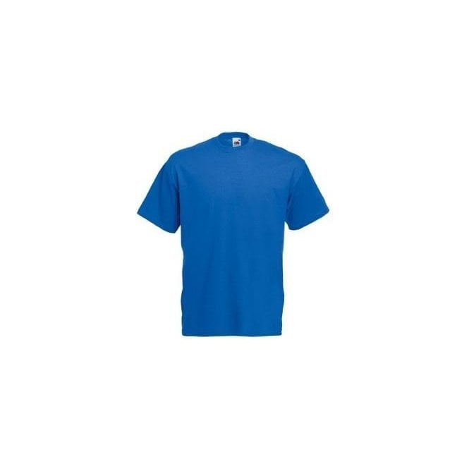 Fruit of the Loom Mens Royal Blue Valueweight Crew Neck, Short Sleeve T-Shirt