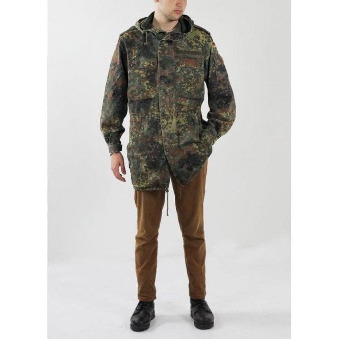 Genuine German Army Flecktarn Unlined Parker Coat