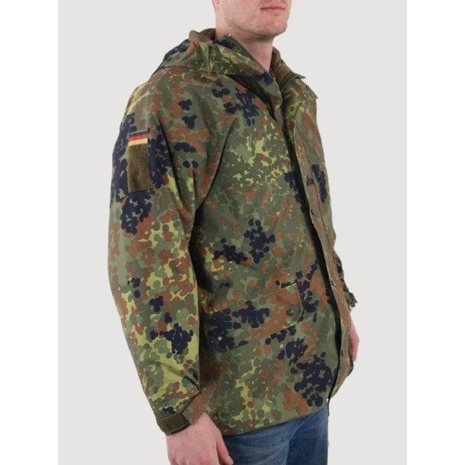 Genuine German Issue Army Flecktarn Gore-Tex Parker Jacket