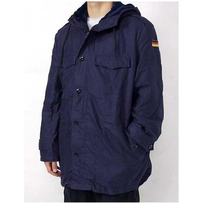 Navy German Army Surplus Cold Weather Parker Coat