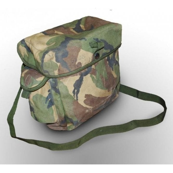 Genuine Woodland Camo Gas Mask/Respirator Bag