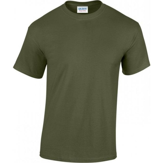 Gildan Green Military T-shirt 185gsm