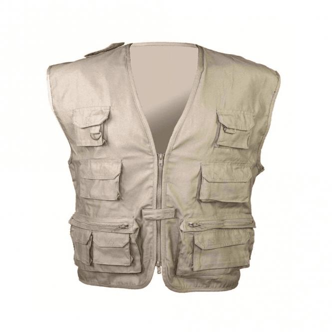 Highlander Beige Multi-Purpose Waistcoat