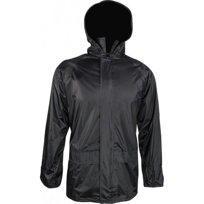 Highlander Black Stormguard Packaway Waterproof Jacket
