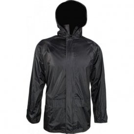 Black Stormguard Packaway Waterproof Jacket
