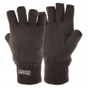 Fingerless Thinsulate Gloves/Mitts Black