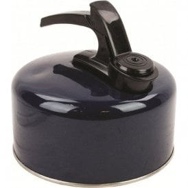 Dark Navy Highlander Aluminium Camping Whistling Kettle 1L or 2L