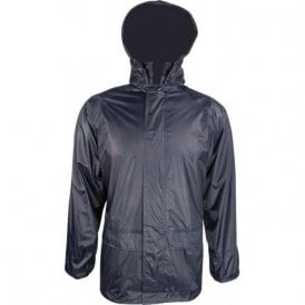 Navy Stormguard Packaway Waterproof Jacket