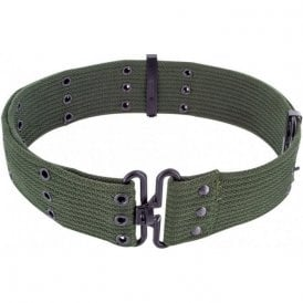 Olive Green GI Style Cotton Pistol Belt
