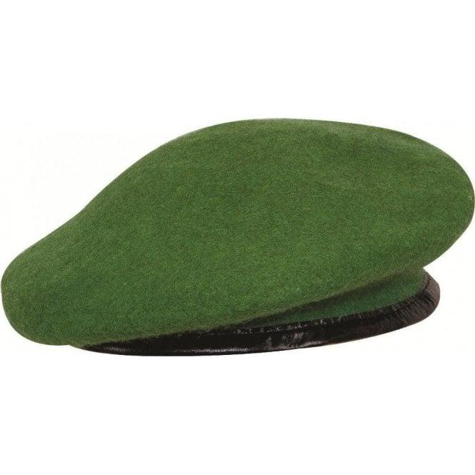 Highlander Olive Green Leather Bound Beret