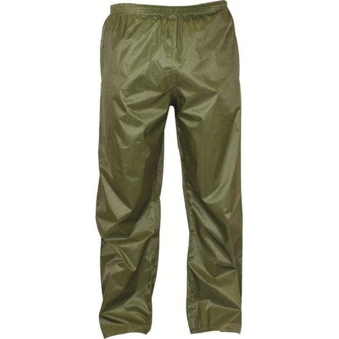Highlander Olive Green Stormguard Packaway Waterproof Trousers
