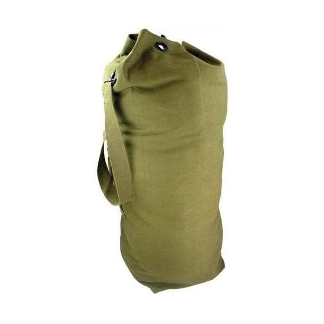 Highlander Pro-Force Canvas Army / Navy Kit Bag Holdall Duffle Bag