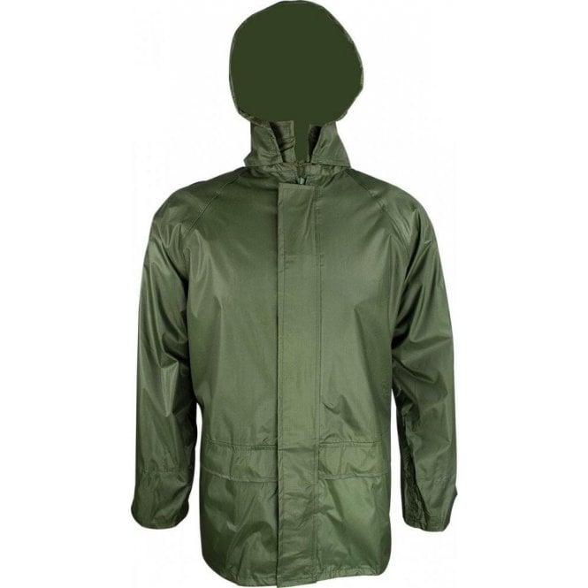 Highlander Stormguard Packaway Waterproof Jacket Olive Green