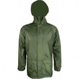Stormguard Packaway Waterproof Jacket Olive Green