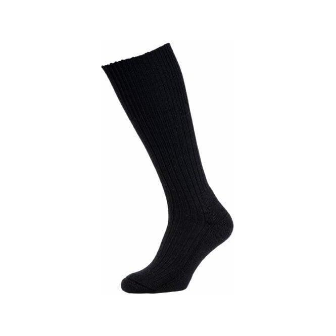 HJ Commando Outdoor Sock Wool Rich Black