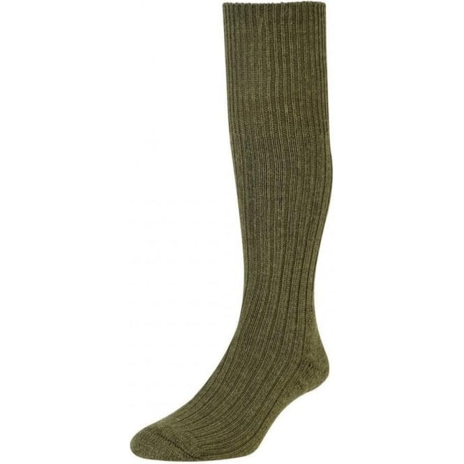 HJ Commando Outdoor Sock Wool Rich Olive Green