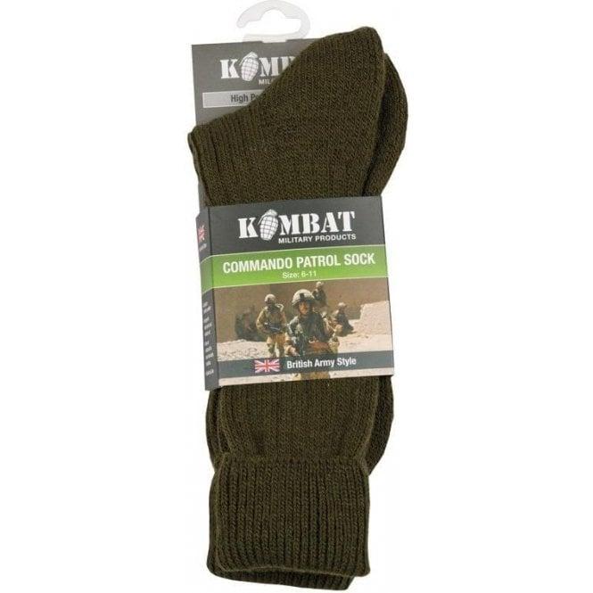 Kombat Army Patrol Socks Olive Green
