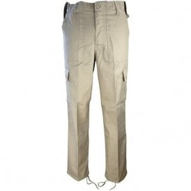 Beige Military Style Combat Trouser