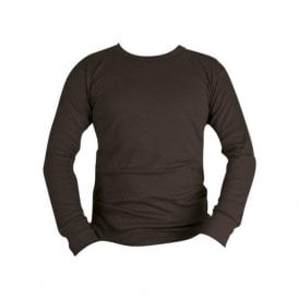 Black Long Sleeve Thermal Vest