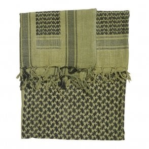 Green/Black Shemagh Scarf