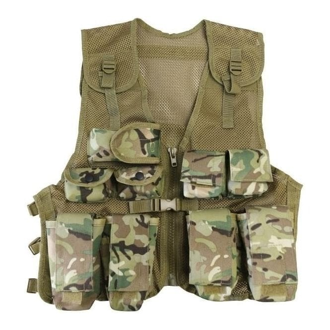 Kombat Kids BTP Camo Tactical Assault Vest
