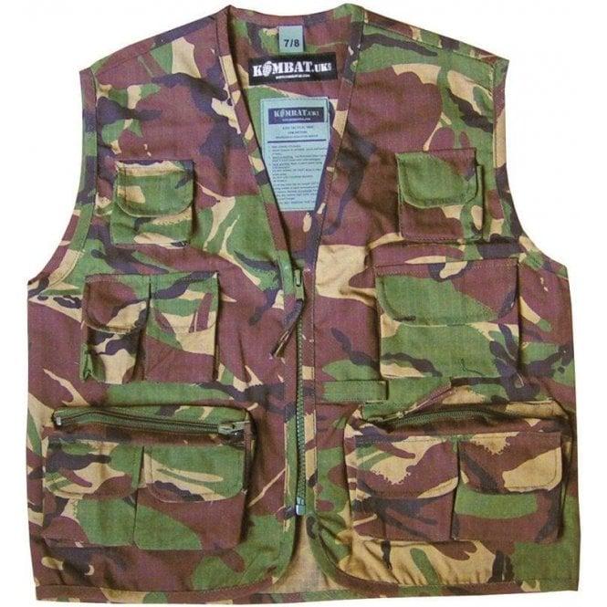 Kombat Kids Camo Tactical Waistcoat/Vest