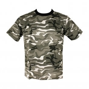 Mens Urban Camo Military/Army T-shirt 100% Cotton