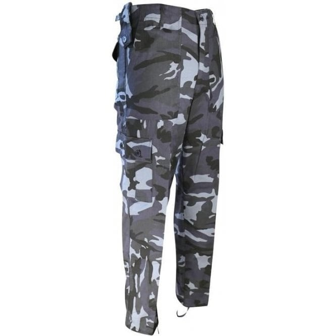 Kombat Military Style Midnight Blue / Night Urban Camouflage Trousers