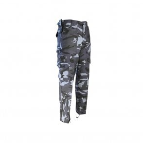 Military Style Midnight Blue / Night Urban Camouflage Trousers