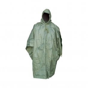Olive Green Rip Stop Poncho