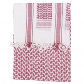 Red/White Shemagh Scarf