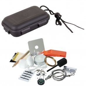 Survival Kit A complete Survival Kit in a Waterproof plastic case in poly bag with header card