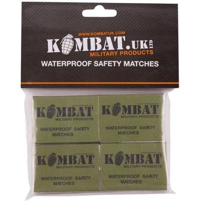 Kombat Waterproof Safety Matches 4PK