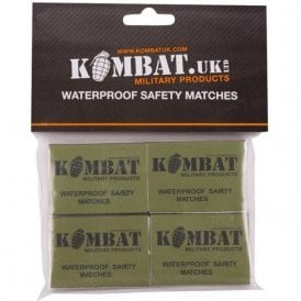 Waterproof Safety Matches 4PK