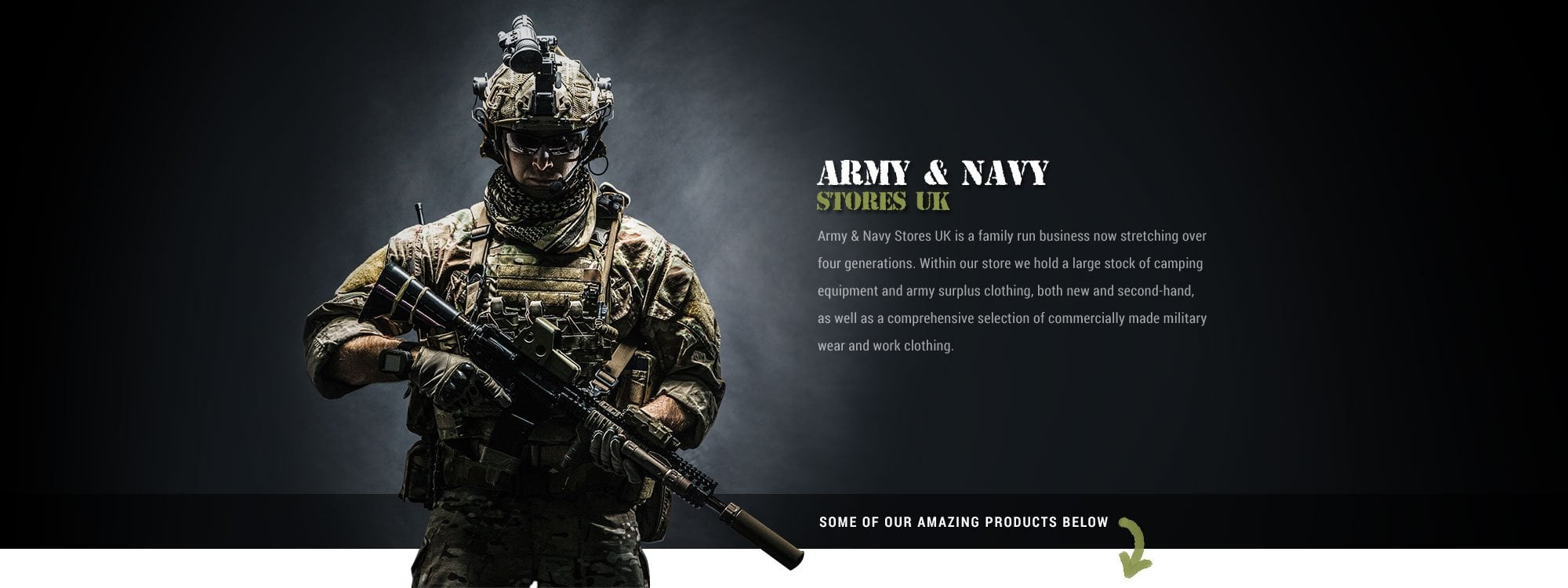 Army and Navy Stores UK supply all your outdoor needs