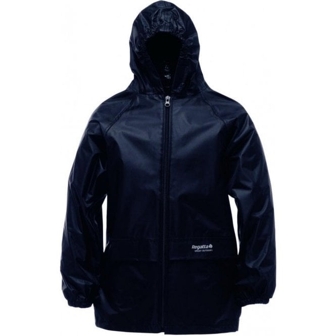 Regatta Black Kids Stormbreak Packaway Waterproof Jacket