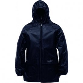 Black Kids Stormbreak Packaway Waterproof Jacket
