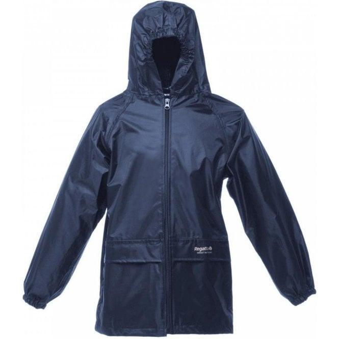 Regatta Navy Kids Stormbreak Packaway Waterproof Jacket