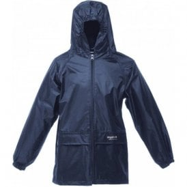 Navy Kids Stormbreak Packaway Waterproof Jacket