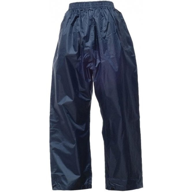 Regatta Navy Kids Stormbreak Packaway Waterproof Trousers