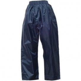 Navy Kids Stormbreak Packaway Waterproof Trousers