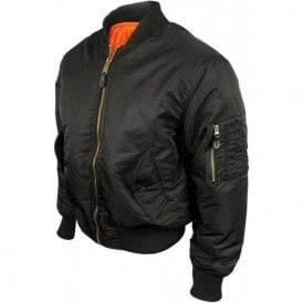 Classic Flight MA1 Bomber Jacket Black