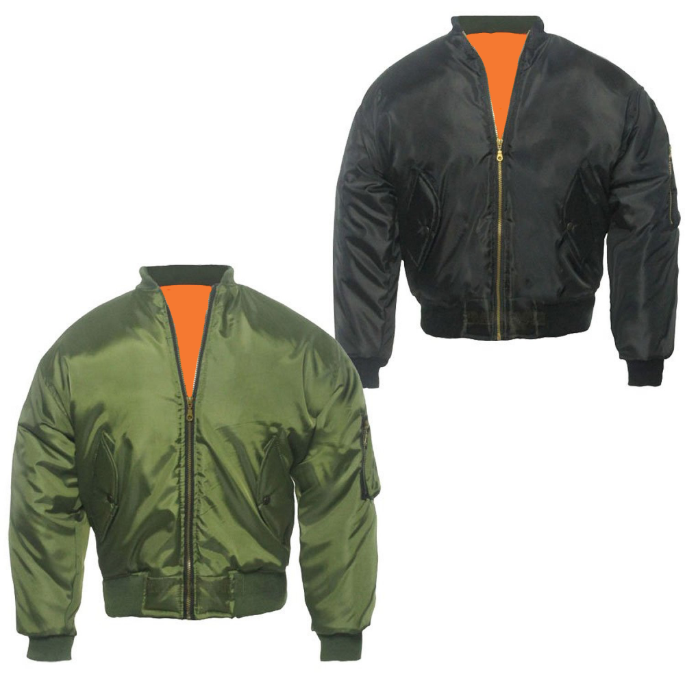 Olive Green Flight MA1 Bomber Jacket | Army & Navy Stores UK